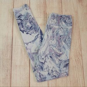 SO High Rise Purple Print Yoga Pants Leggings